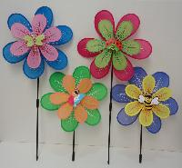 "16"" Double Wind Spinner [Pastel Petals & Bug Assortment] - Assembly required"